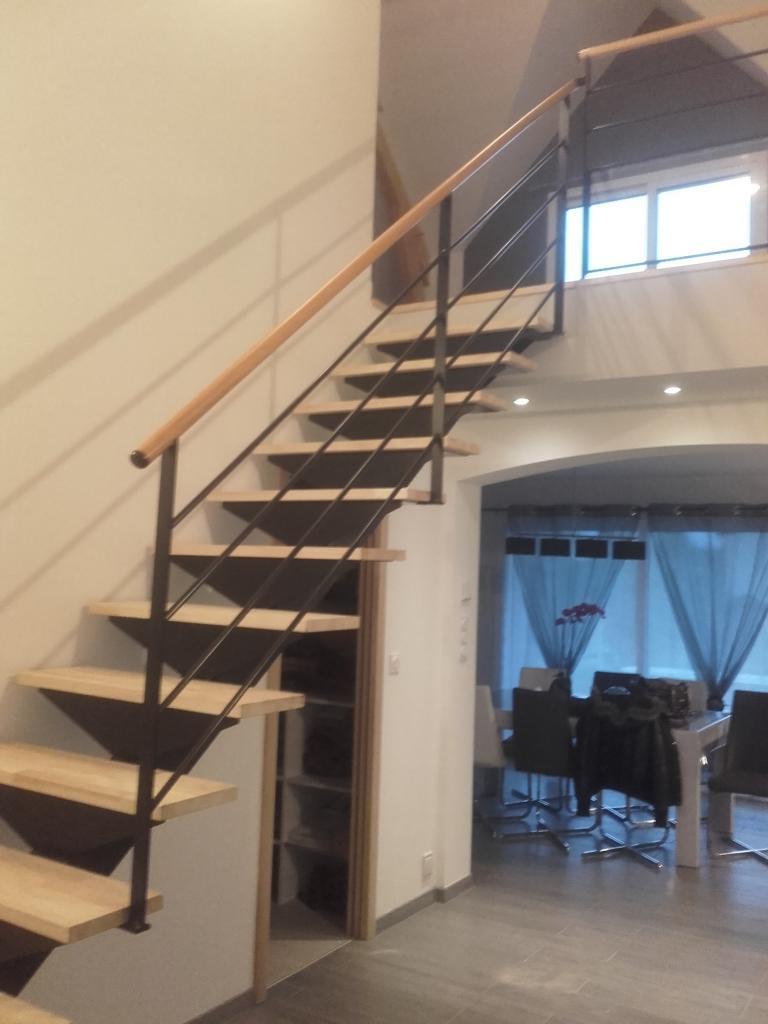 Escalier bi-matière
