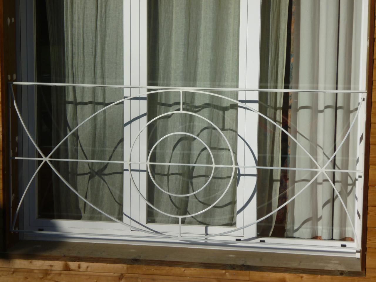 Grille de défense forme ovale
