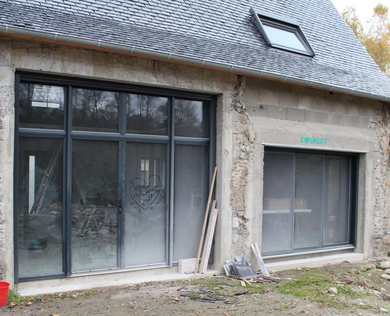 Menuiseries en aluminium (maison en rénovation)