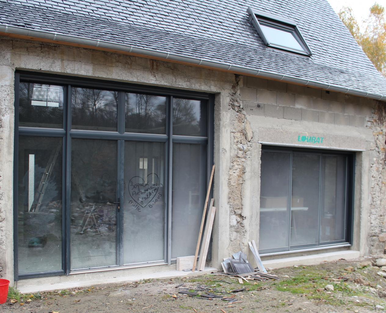 Menuiseries en aluminium (maison en rénovation)